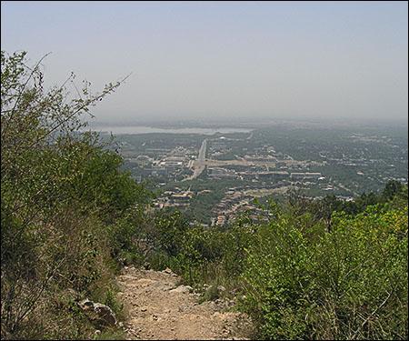 Rawalpindi from Margalla Hills Pakistan